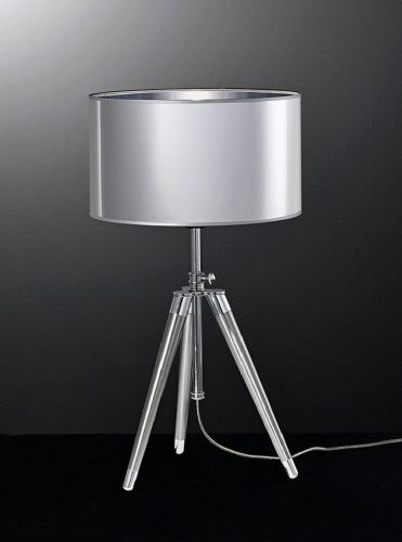 Franklite TL968 Chrome / Satin Nickel Table Lamp (Class 2 Double Insulated)